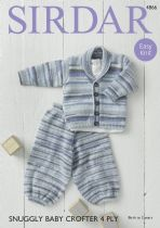 Sirdar Snuggly Baby Crofter 4ply - 4866 Jacket & Trousers Knitting Pattern